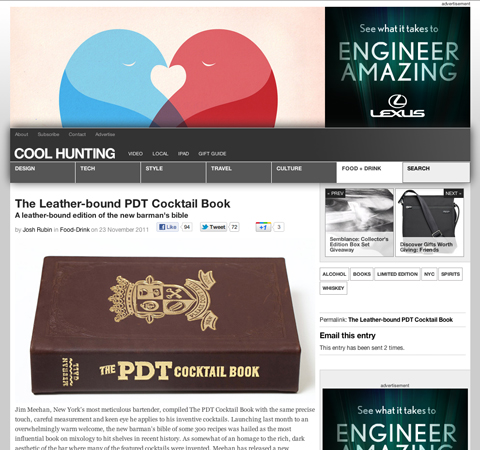 <a target='_blank' href='http://www.coolhunting.com/food-drink/the-pdt-cocktail-book-leather.php'>Cool Hunting</a>