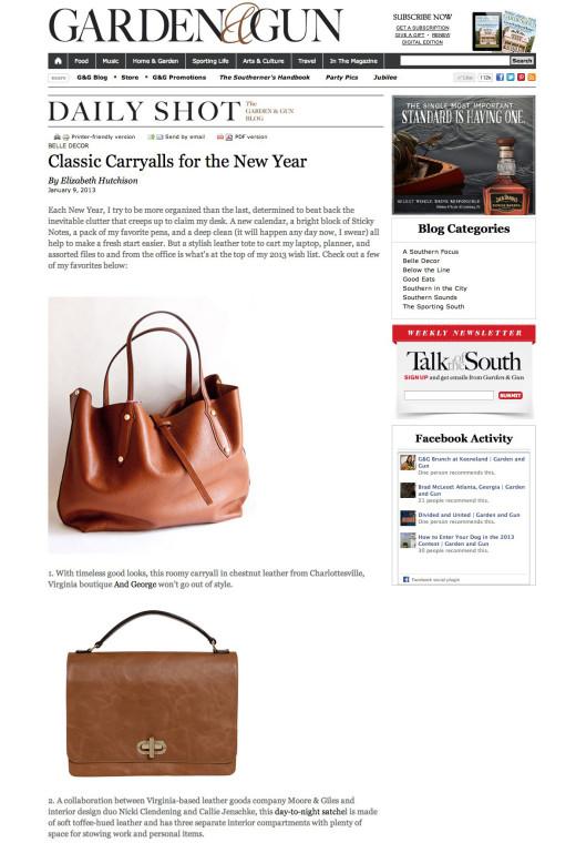 <a target='_blank' href='http://gardenandgun.com/blog/classic-carryalls-new-year'>Garden & Gun – January 2013</a>