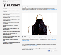 Playboy Feature on Moore & Giles Oak Leather Apron