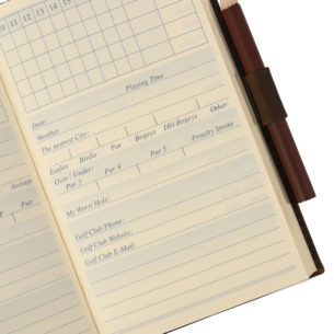 Travel Golf Scorebook