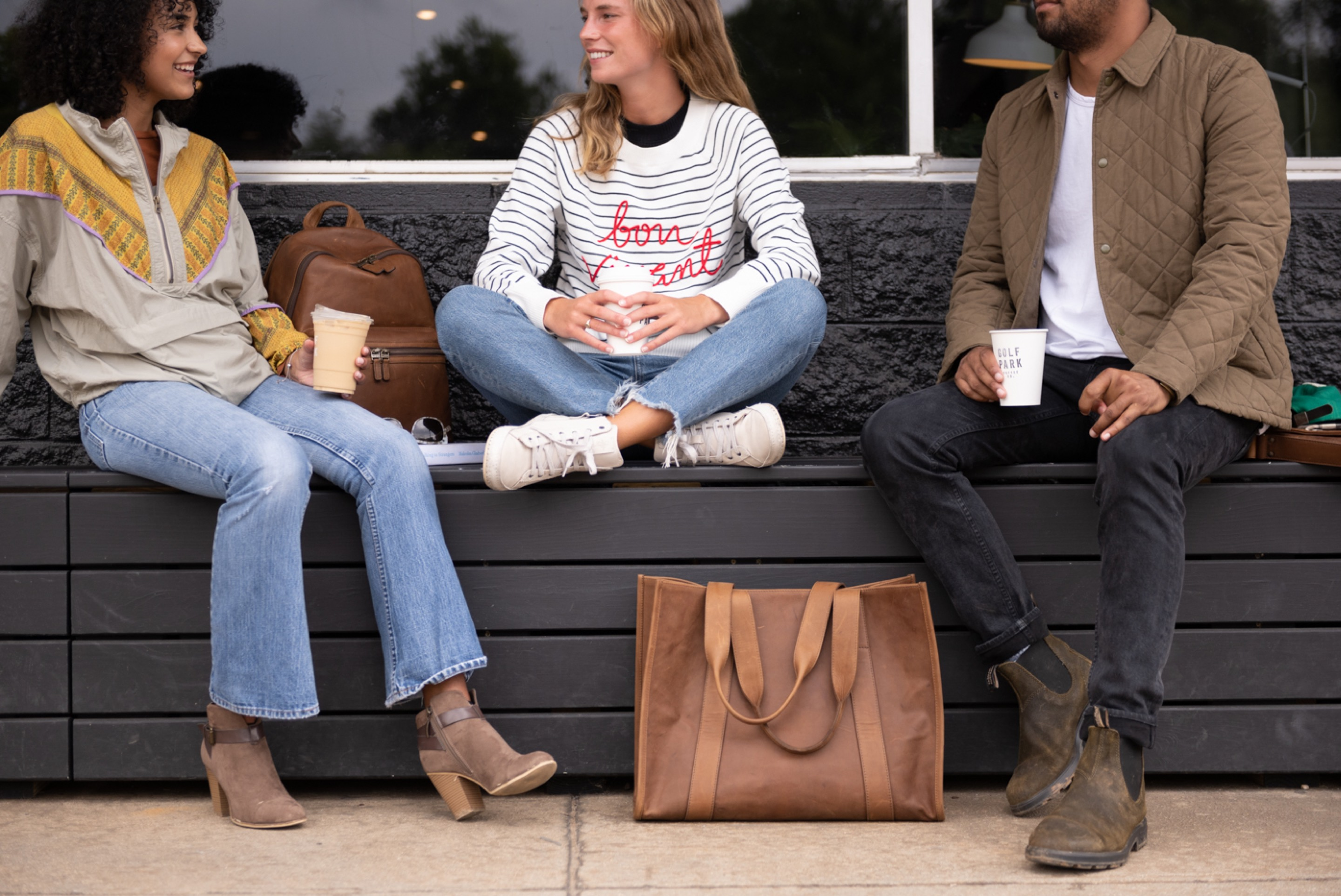 What to Expect - Coffee - Reclaimed Leather Bags