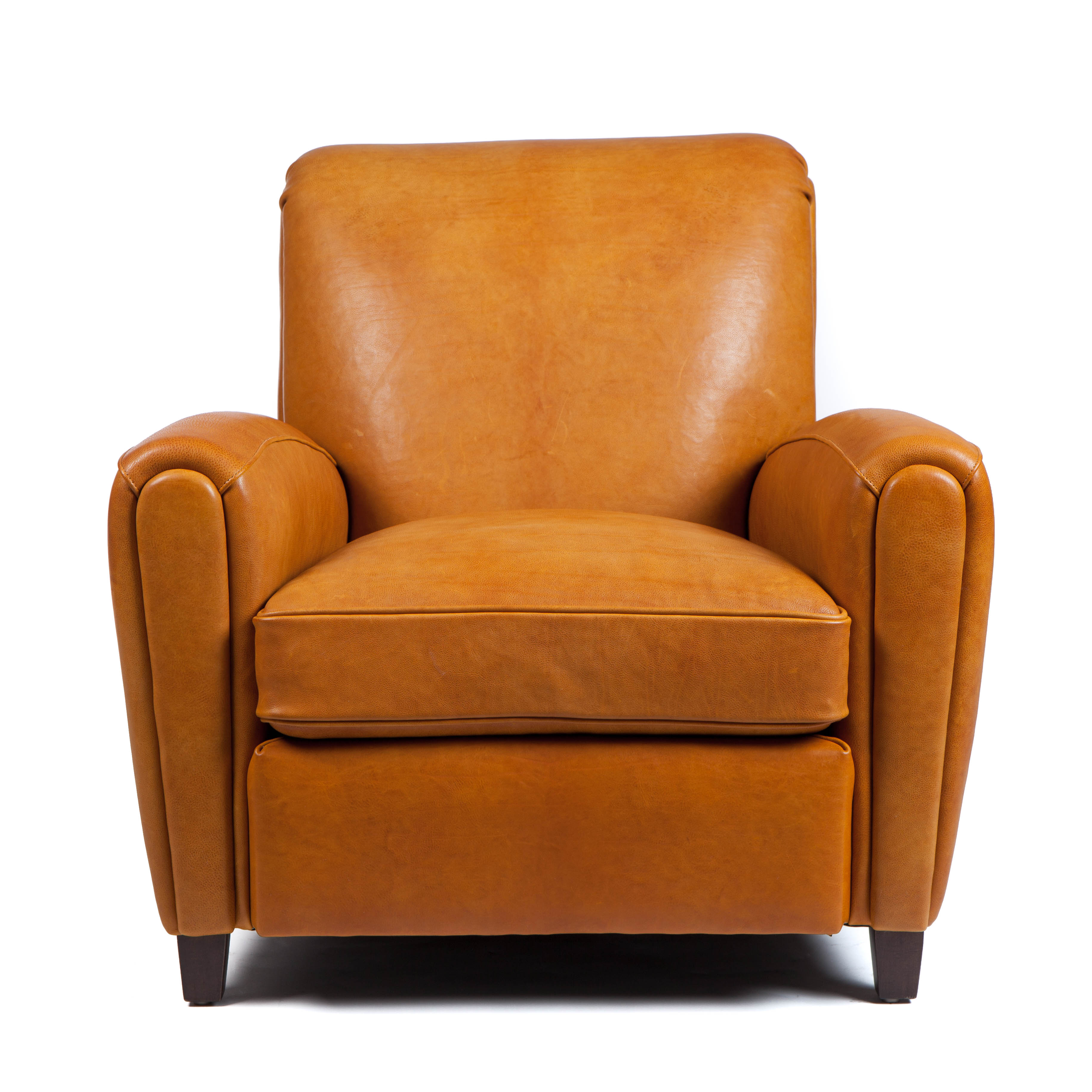 Moore & Giles Traynham Club Chair Leather No 9 in Modern Saddle