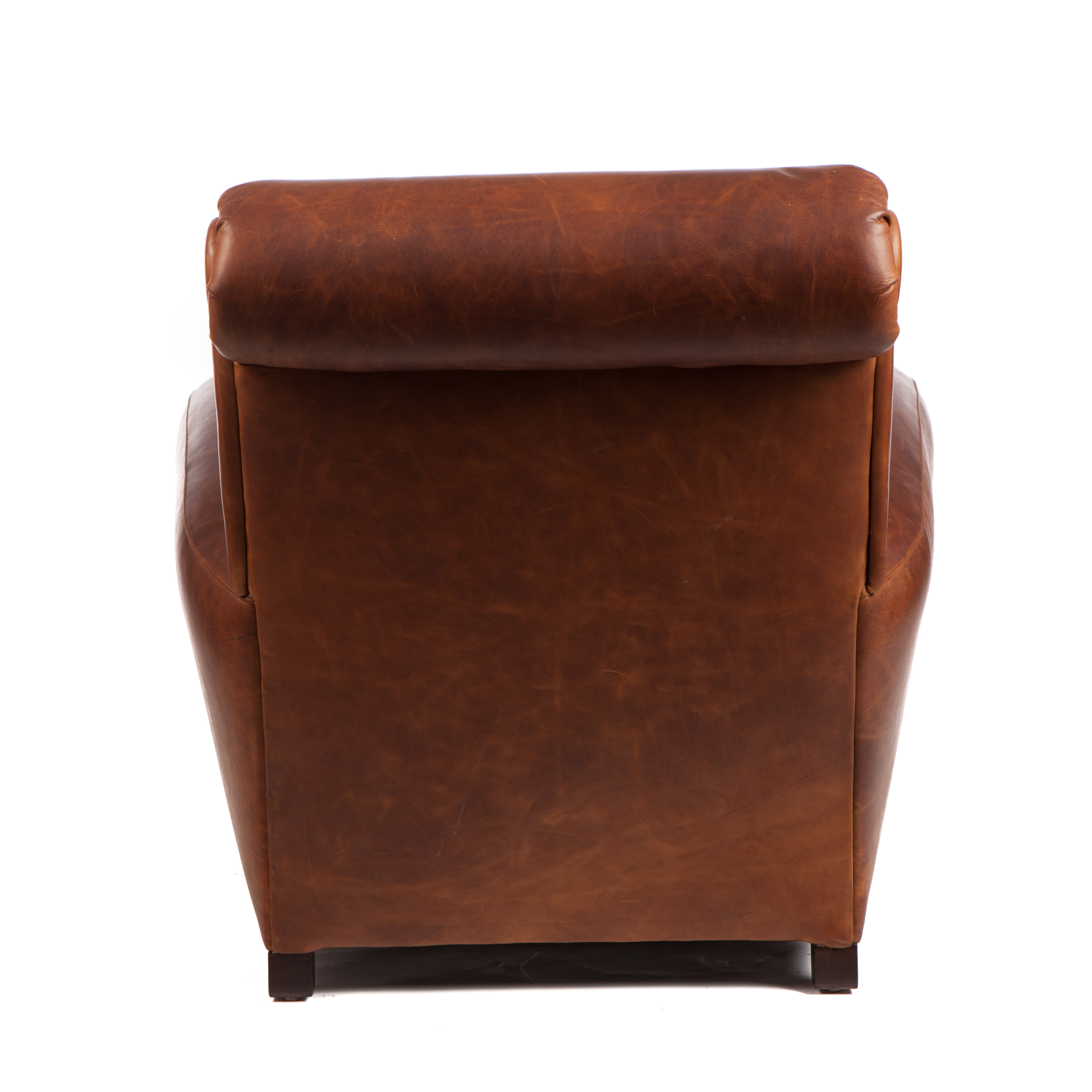 Moore & Giles Traynham Club Chair Leather No 1 in Sonoma Toffee