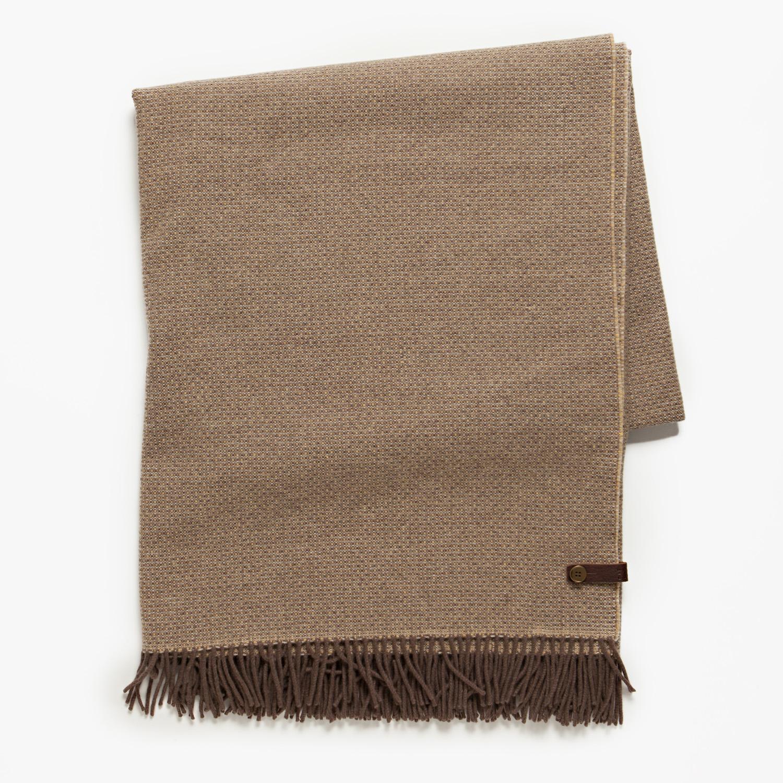 moore giles leather merino wool blanket in umber. Black Bedroom Furniture Sets. Home Design Ideas