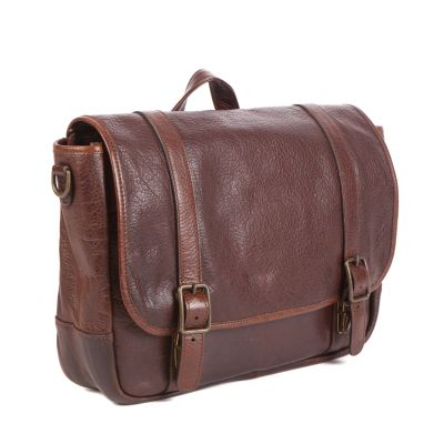 Carlton - Courier Bag - American Bison