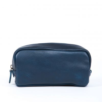 George - Mini Dopp Kit - Titan Milled Navy