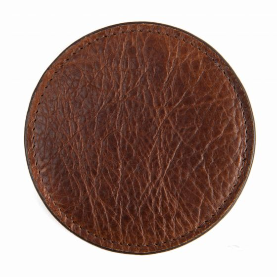 Leather Coasters - American Bison