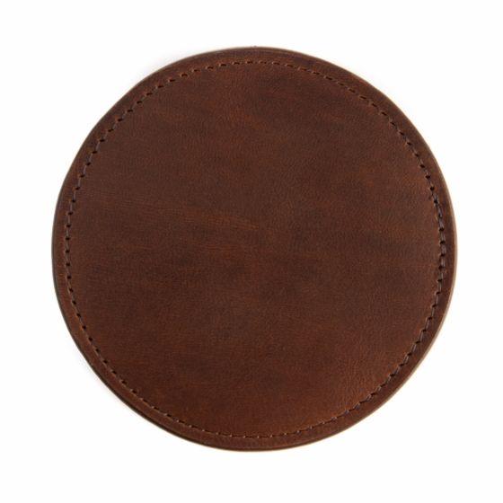 Leather Coasters - Baldwin Oak