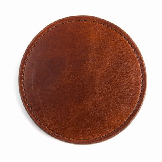 Leather Coasters - Titan Milled Honey