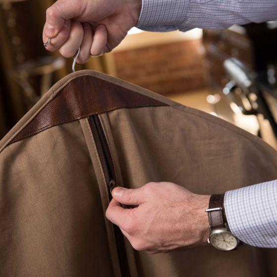 Holton - Garment Sleeve - Brushed Twill Tan