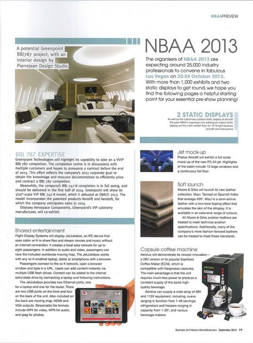 Business Jet Interiors International – Sept 2013